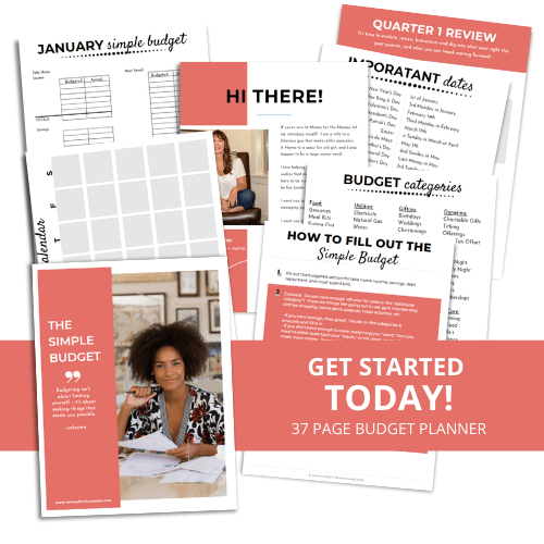simple budget printable budget planner pages