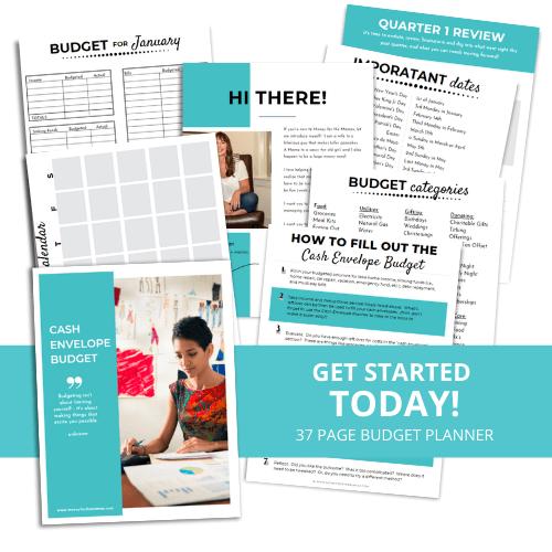 cash envelope printable budget planner pages