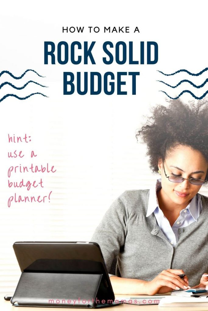 how to make a rock solid budget