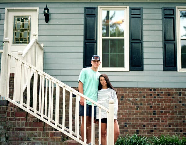 Tori Smith and Philip Ellis, both teachers, had to pay a larger down payment than they had anticipated for their home in Zebulon, N.C.