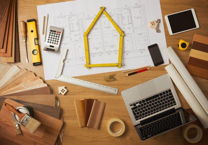 Blueprints and architect designs