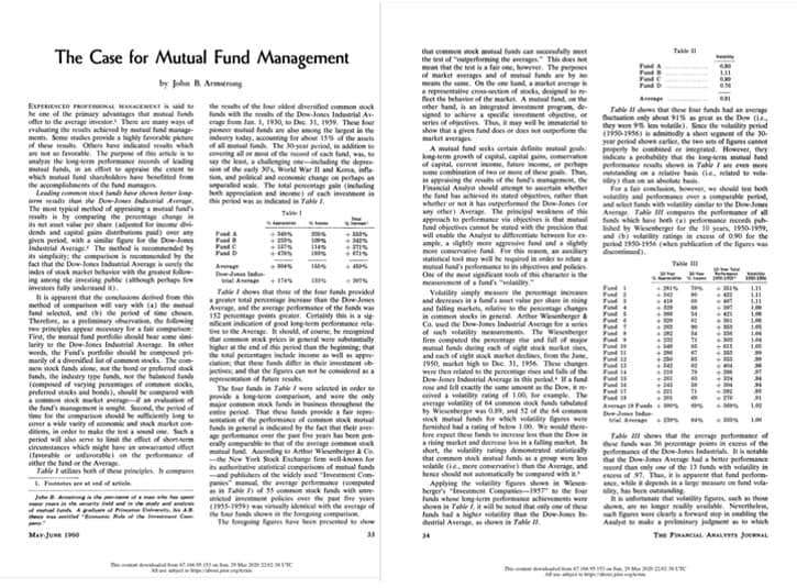 The case for mutual fund management